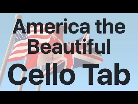 Learn America the Beautiful on Cello - How to Play Tutorial