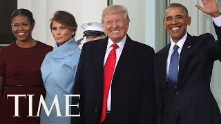 Barack And Michelle Obama Welcome The Trumps | Donald Trump Inauguration | TIME