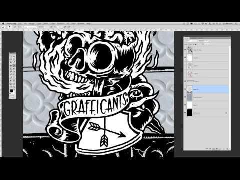 Digital Inking - Photoshop Time Lapse - BCN or DIE Magazine