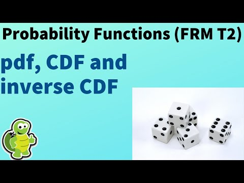 Probability functions: pdf, CDF and inverse CDF (FRM T2-1)