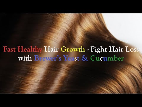 Fast Healthy Hair Growth | Fight Hair Loss with Brewer's Yeast & Cucumber