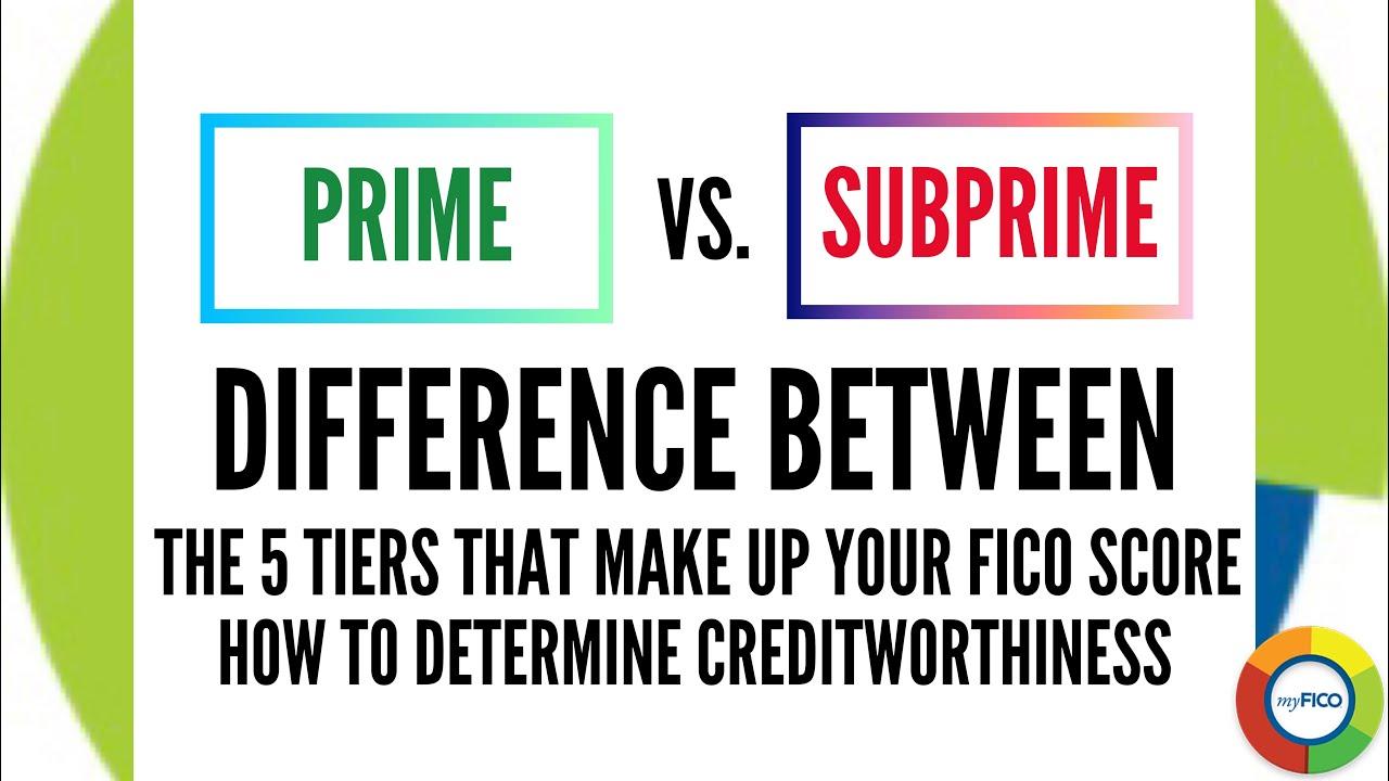 ❎ Prime vs Subprime ⛔ - The 5 FICO Tiers