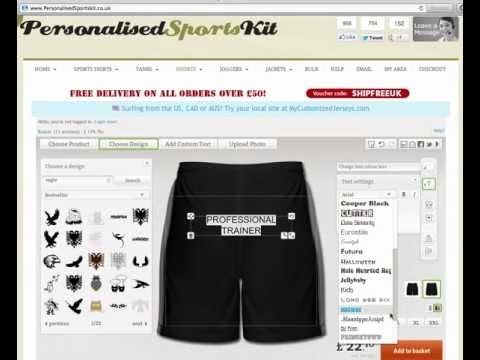 Personalised Shorts - Design Your OWN Personalised Shorts online!