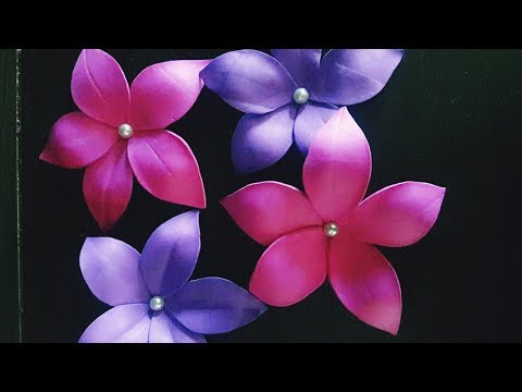 FOAM SHEET CRAFT/HOW TO MAKE FOAM FLOWERS/EASY LOW  COST FLOWERS/HOME DECOR