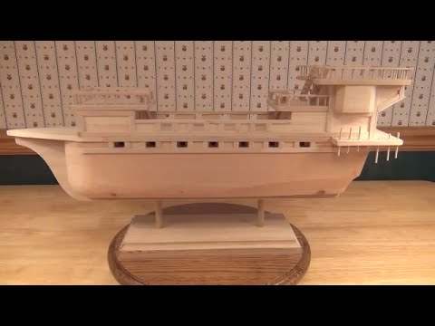 Building a wooden pirate ship.