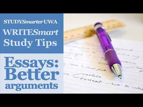Writing essays at UWA: Get better marks with clear arguments