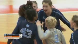 UNC Volleyball: Tar Heels Tame Tigers in Four Sets