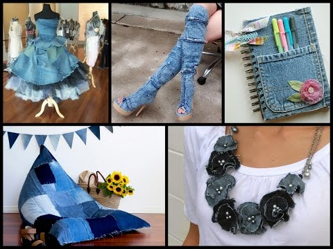 Recycled Denim Craft Ideas - Simple DIY Old Jeans Projects