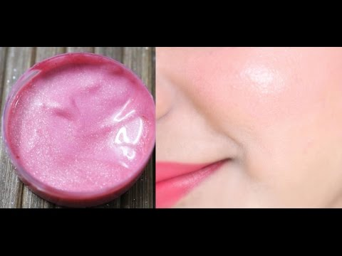How to Make Skin Glow & Sparkle Pink Cream Blush with SPF