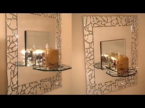 Dollar Tree DIY - 💕Mosaic Mirrored Wall Sconce 💕