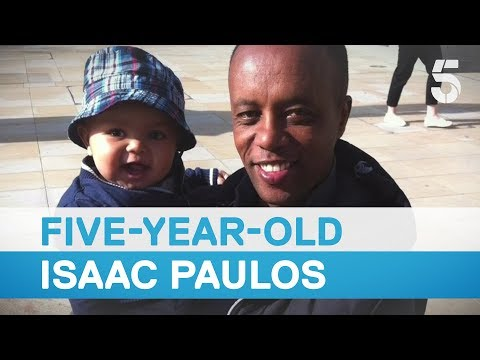 Five-year-old Isaac Paulos's father Paulos Tekle at Grenfell inquiry - 5 News