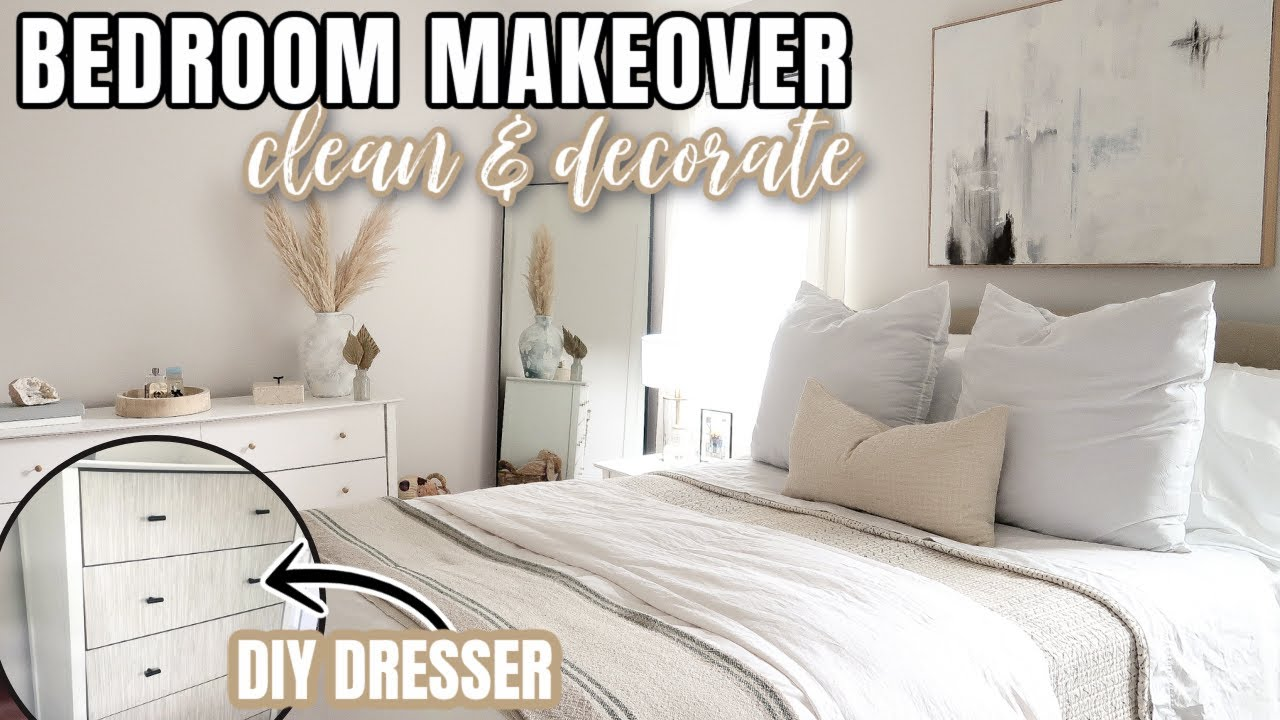 DIY MASTER BEDROOM MAKEOVER ON A BUDGET | DECORATING IDEAS | DEEP CLEANING MOTIVATION | BEDROOM DIY