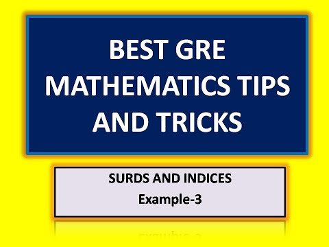 Surds and Indices Example-3:GRE Aptitude Tips and Tricks(IBPS/SSC/GATE/BANK PO)