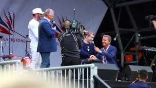 Lewis Hamilton and Billy Monger Together at Silverstone Fan Forum 2017