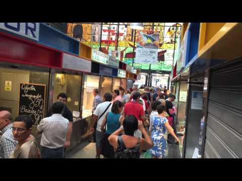 Central Market in Malaga Spain