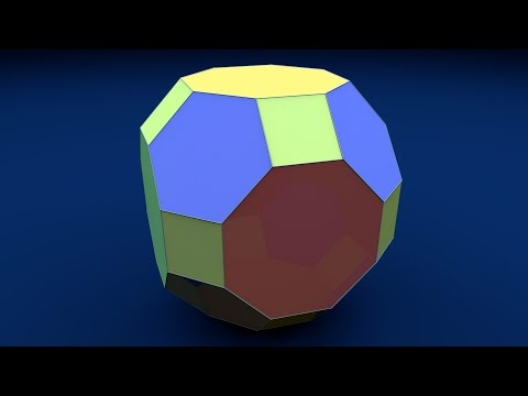 Solid Shapes And Their Nets: Great Rhombcuboctahedron / Ромбоусечённый кубооктаэдр