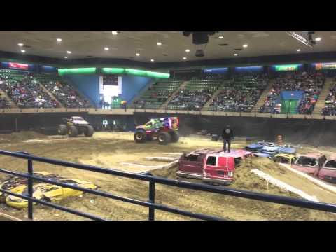 Monster trucks at the Wicomico Civic Center Salisbury,MD 2015