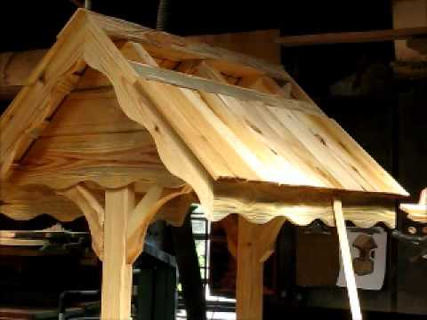 LOG CABIN / COTTAGE STYLE WISHING WELL PART 3 OF 3
