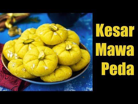 Quick and Easy Kesar Mawa Peda Recipe | Traditional Indian Milk Dessert - Khoya Peda |