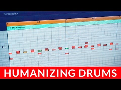 HOW TO HUMANIZE PROGRAMMED DRUMS IN LOGIC PRO X
