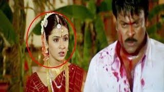 Chiranjeevi  Blockbuster Telugu Movie Action Scene | Telugu Videos | Vendithera
