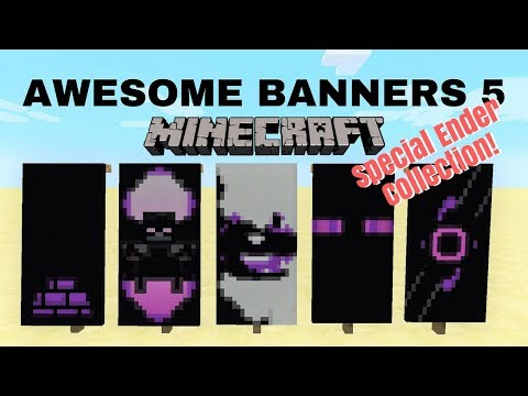 ✔ 5 AWESOME MINECRAFT BANNER DESIGNS WITH TUTORIAL! #5