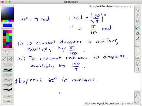 TRIG 1.06 Converting Degrees to Radians and Radians to Degrees