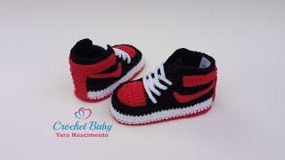 Tejidos Para Zapatitos Paso Crochet Nike Bebe Jordan A pVUMzGqS