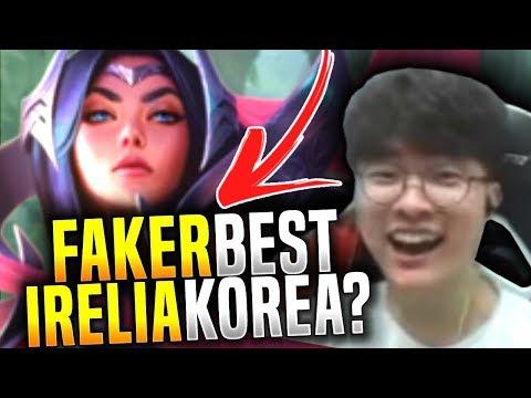 Faker wants to be the Best Irelia in Korea! - SKT T1 Faker Picks Irelia Mid! | SKT T1 Replays