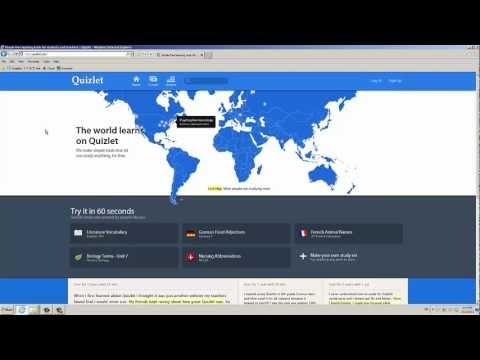 For teachers: a quick intro to QUIZLET