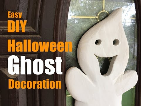How to make a Carved Wood Ghost Halloween Decoration