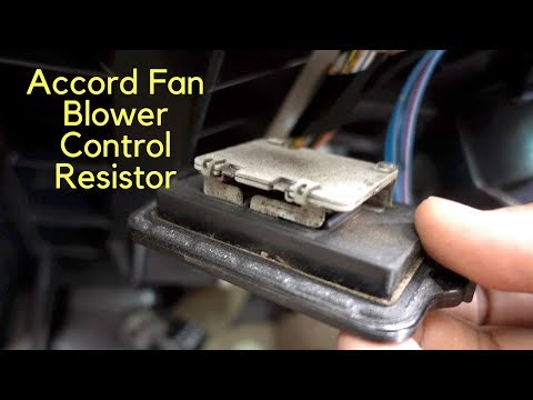 How To Replace A/C Heater Blower Motor Fan Speed Control Resistor 98 02 Honda Accord
