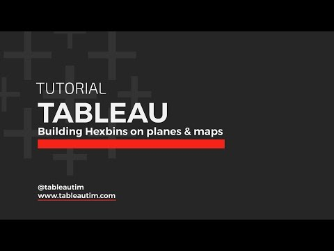 Hexbins & Mapping in Tableau: Tutorial HD with CC June 2016