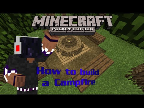Minecraft Pocket Edition | How to Build a Campfire | YOUR CAMPING NECESSITY