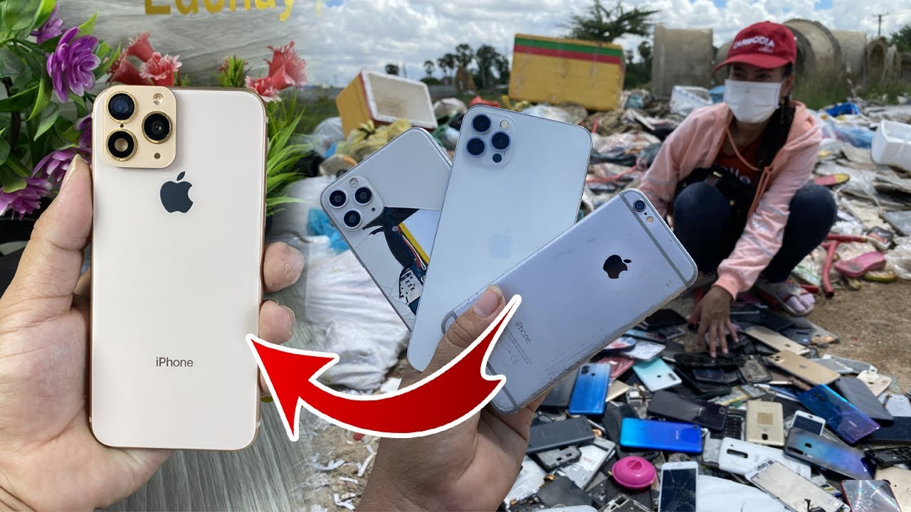 How to turn iPhone 6 like iPhone 12 Series new With Awesome,Restore abandoned destroyed phone