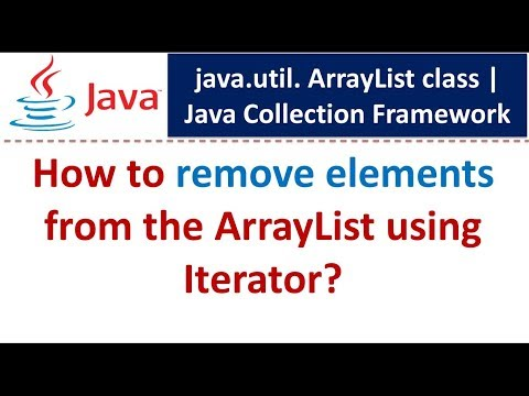 Java : Collection Framework : ArrayList (Remove elements using Iterator)