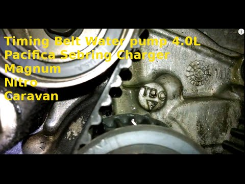 Timing belt replacement 2007 Pacifica, Sebring, Charger 4.0L how to replace water pump