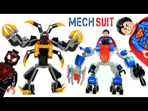 Superman Anti-Kryptonite & Spider-Man Anti-Venom Mech Suits LEGO KnockOff Building Sets