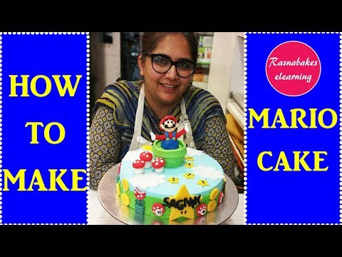 How To Make Mario Cake: Free Cake Decorating Tutorial