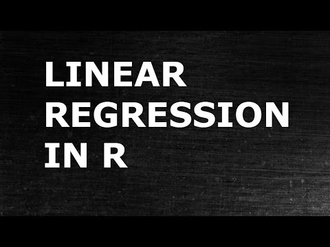Regression Analysis: Simple Linear Regression using R