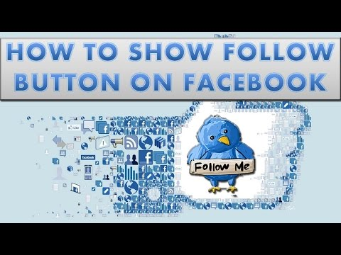 How to add follow button on Facebook profile?
