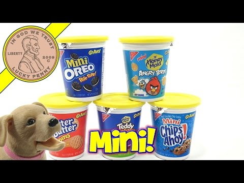 Mini Cookie Feast!  Angry Birds, Chips Ahoy, Oreo, Teddy Grahams, Nutter Butter