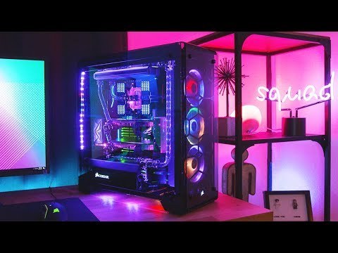 The Ultimate $7,500 RGB Threadripper 1950X Build! (Water Cooled!)