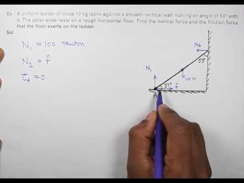 23. Physics | Class 11 | RBD | Solved Example | Normal reaction and friction on ladder | by PN Sir
