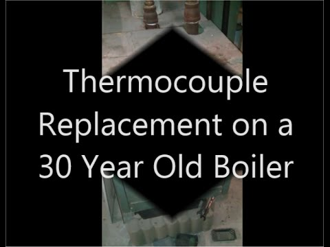 Simple step by step thermocouple replacement on a gas boiler