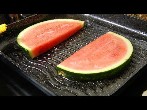 Tasty fried watermelon