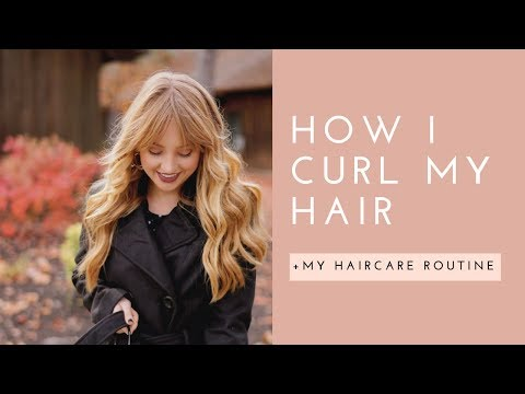 HOW I CURL MY HAIR + My Haircare Routine (Vegan & Cruelty-Free)
