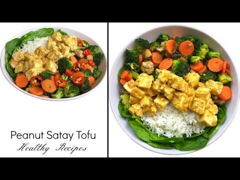 Peanut Satay Tofu Recipe   Vegan Stir Fry Tofu Rice   Peanut Sauce