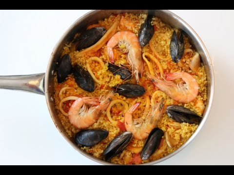 Homemade Seafood Paella - Spain Recipe - CookingWithAlia - Episode 341