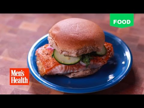 Cook and Chisel 3.0: Seared Salmon Burger With Quick Pickles